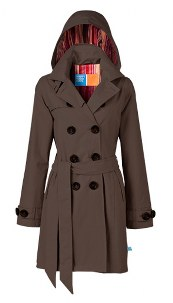 Clarissa Brown Hooded Trenchcoat