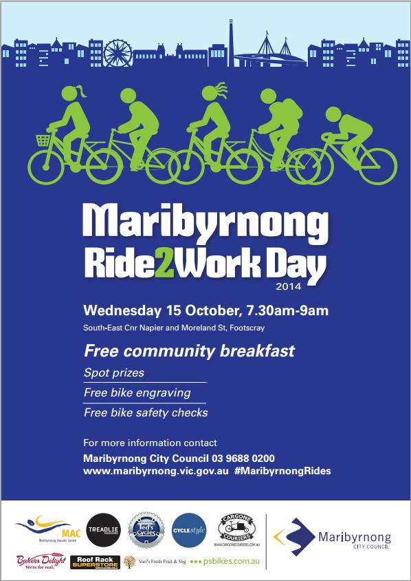 Maribyrnong Ride2Work Day 2014