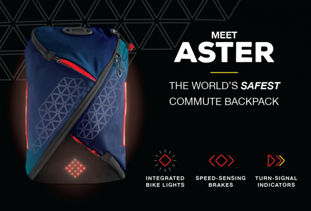 Aster- world's safest commuter cycling backpack