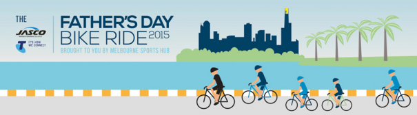 fathers day bike ride banner