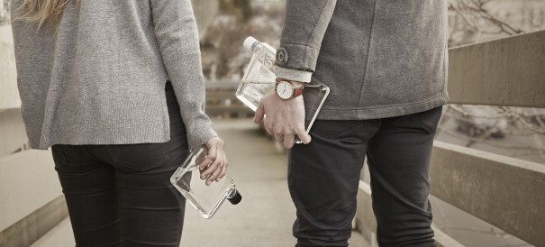 The memobottle resemblies the shape of a piece of paper, meaning it fits where other bottles don't.