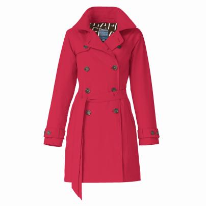 Rosa Waterproof Trenchcoat – Red