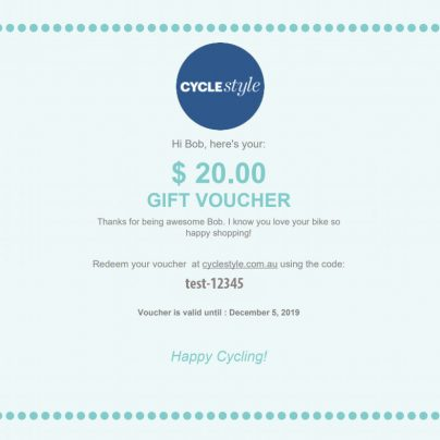 Cyclestyle gift vouchers