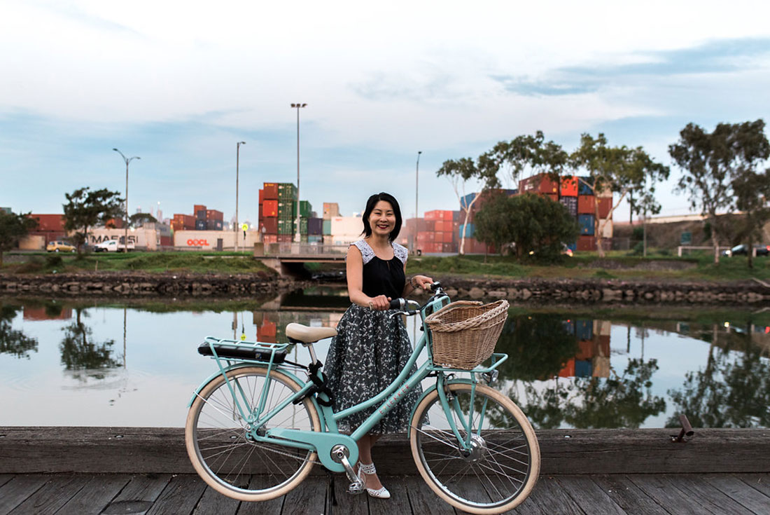 Joyce Watts of Cyclestyle, with Lekker EBike